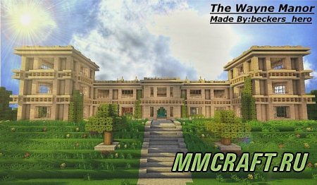 Карта: The Wayne Manor [With Batcave]