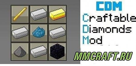 Мод Craftable Diamonds для Minecraft 1.5.2