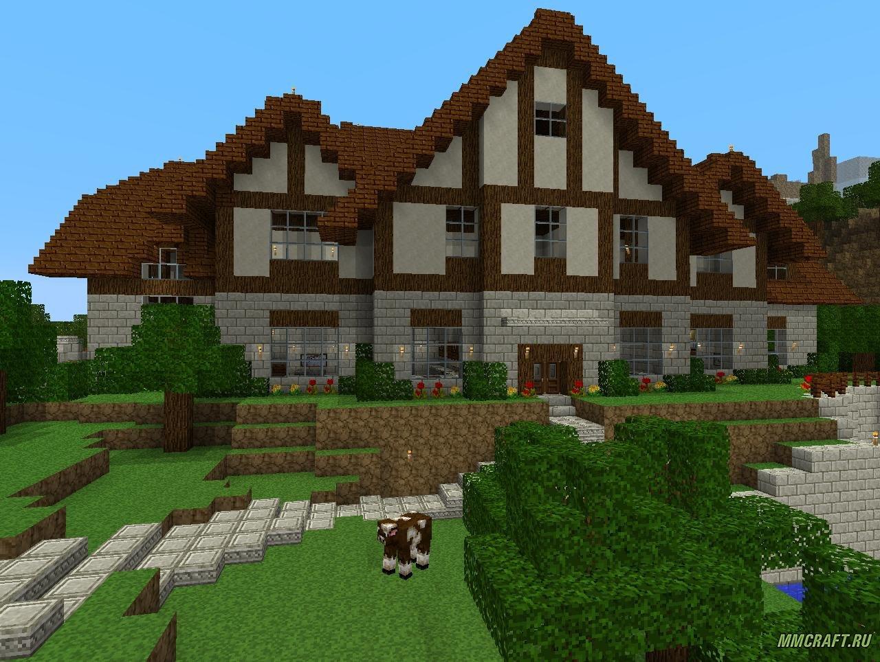 дом в горе в майнкрафте карта