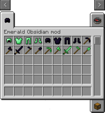 Мод Emerald and Obsidian Tools для Minecraft 1.8