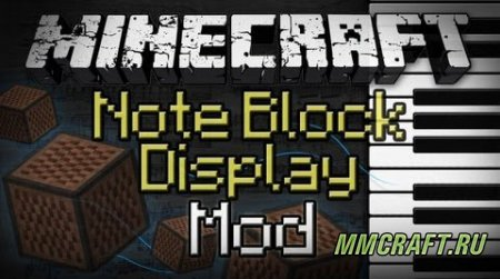 Мод Note Block Display для Minecraft 1.8