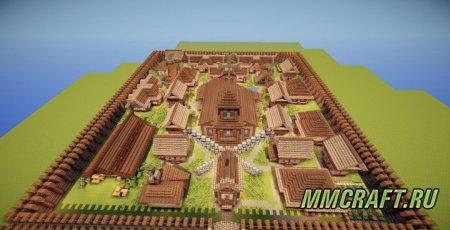 Карта для Майнкрафт Средневековый Город