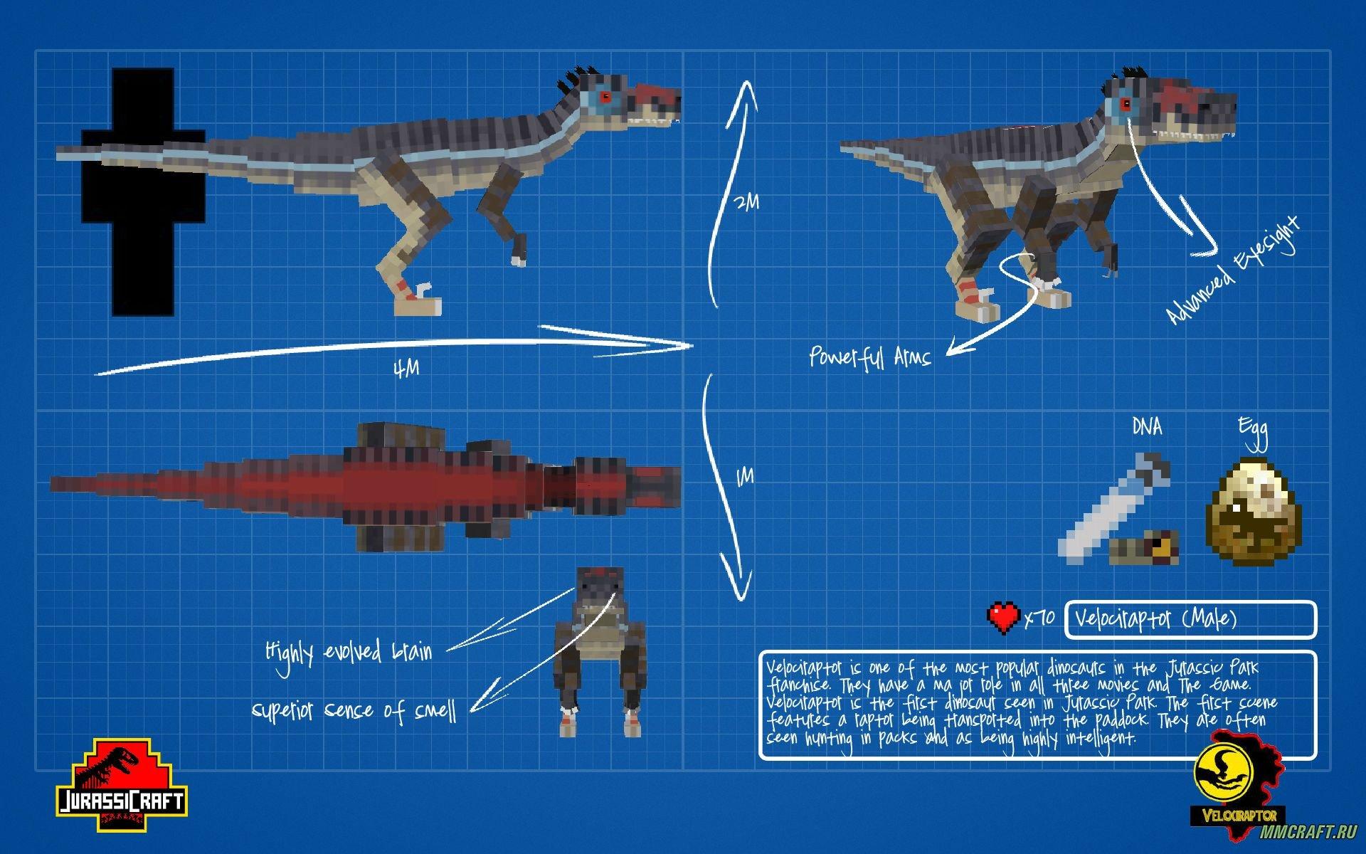 Скачать модына майнкрафт 1.7.2 на динозавров