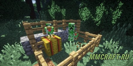 Мод Creeper Chickens для Minecraft 1.8