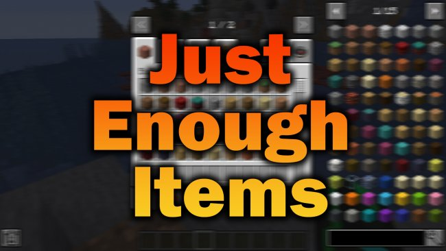 Мод Just Enough Items (JEI) 1.16.1/1.15.2