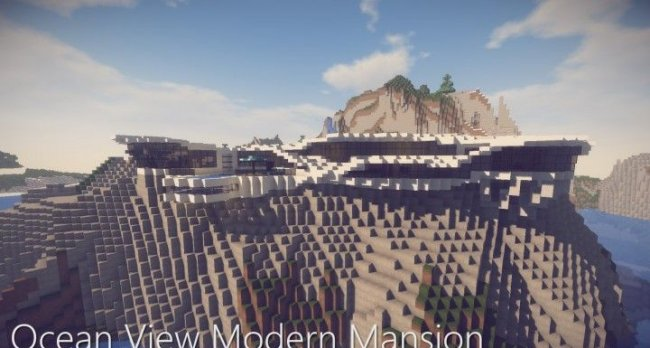 Карта Ocean View Modern Mansion для Minecraft 1.14.4