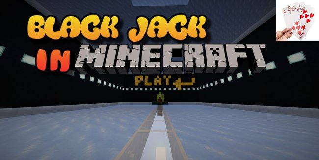 Карта Blackjack In Minecraft для Minecraft 1.14.4